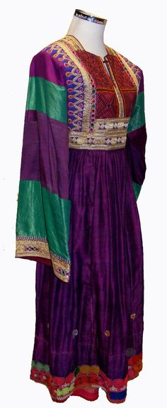 Vintage afghanistan ethnic traditional dress costume Nomaden afghan kleid