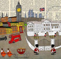 Vintage London Art prints,poster wall art Limited edition Large poster Vintage poster by Juri Romanov London Dreams, Pop Art, Poster Prints, Art Prints, Poster Wall, London Art, London Poster, Vintage Rock, Rock Posters