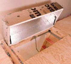 DIY Attic Access Insulation - Insulation.com - Your Source for Insulation Information and Referrals & 11 best Attic Hatch - Residential Energy Conservation images on ...