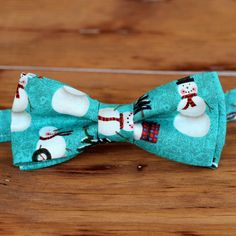 Mens Christmas Bow Tie  mens Winter Snowmen on by becauseimme