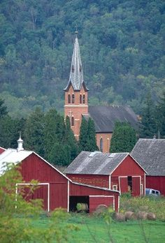 Vernon County, WI--Coon Valley Lutheran Church--must photograph this in the fall!