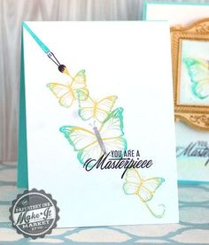 Masterpiece Butterflies Card by Betsy Veldman for Papertrey Ink (December 2014)