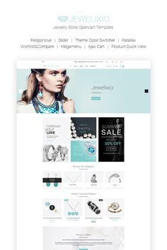 Jewelixio - Jewelry Store OpenCart Template #66815