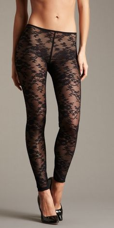 Lace Leggings- this would be great with a high waist Lace Leggings, Tight Leggings, Hot High Heels, Fashion Tights, Elegant Outfit, Sexy Legs, Looking For Women, Sexy Lingerie, Style Me