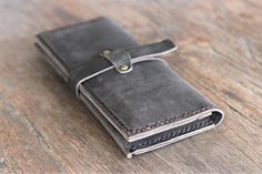 BLACK Leather iPhone 6 PLUS Wallet Clutch Case Rustic Design with Our Signature Hand-Stitching by JooJoobs [066] by JooJoobs on Etsy https://www.etsy.com/listing/207592018/black-leather-iphone-6-plus-wallet