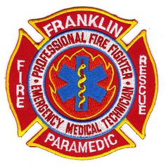 Franklin Fire Department Paramedic Patch- #Massachusetts. Pretty neat!