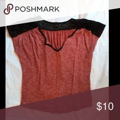Daytrip top Red and black Daytrip top with lace on shoulders and back. Daytrip Tops Tees - Short Sleeve