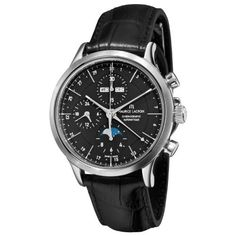 Maurice Lacroix Men's LC6078-SS00133E Les Classiqu Black Dial Automatic Watch Maurice Lacroix. $2999.00. Automatic movement. Black Leather Strap. Black Chronograph Dial. Stainless Steel Case. Water-resistant to 99 feet (30 M). Save 28% Off!