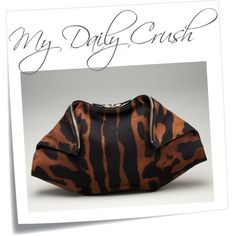 {my daily crush} Alexander McQueen De-Manta Tiger-Print Clutch, created by thefashionistyle on Polyvore