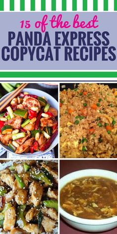 If your family loves Panda Express as much as mine does, they'll really love enjoying it at home. These American Chinese recipes are sure to be a hit – just wait until you taste the delicious sauce on the orange chicken. 15 Copycat Panda Express Recipes H Homemade Chinese Food, Easy Chinese Recipes, Asian Recipes, Mexican Food Recipes, Asian Foods, Chinese Food Recipes Chicken, Oriental Recipes, Diner Recipes, Ethnic Recipes