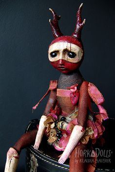 art doll GERANIUM HorkaDolls.  She got the sadness so right!