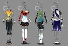 Colorful Outfits #14 - sold by Nahemii-san.deviantart.com on @DeviantArt