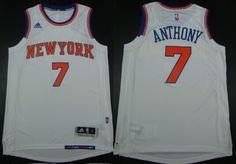 New York Knicks #7 Carmelo Anthony Revolution 30 Swingman 2014 New White Jersey