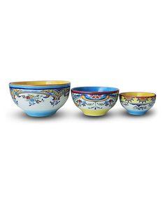 Loving this Zanzibar Mixing Bowl Set on #zulily! #zulilyfinds