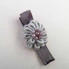 Gray Hair Clip with Pearls by OmaDesigns on Etsy