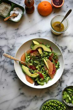 Bonkers Awesome Avocado Grapefruit And Edamame Salad by Joy the Baker