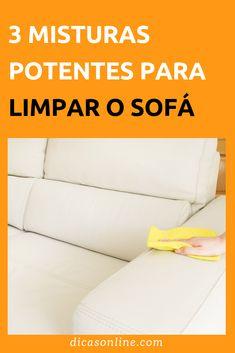 Misturas para limpar sofá - Aprenda