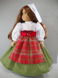 "Fits 18"" American Girl doll Italy Italian folk dress clothes W COSTUME ONLY"