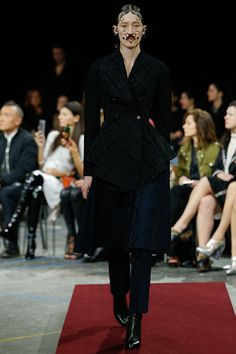 Givenchy - The clothing was perfect. The velvet, peasant looks, and exquisite tailoring painted a picture of an ancient era showing the full spectrum of its society from princess to pauper. Riccardo Tisci is an expert designer and showman. thestyleweaver.com Fall 2015 Ready-to-Wear
