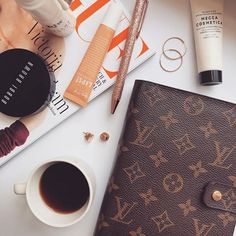 EAUTY+BOOKS BY BEL. (@5totry) • Instagram photos and video Rose Gold Pen, Mecca Cosmetica, Beauty Book, Sunscreen, Lip Balm, Lips, Photo And Video, Coffee, Tableware