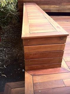 Seat Wall Designs | custom built bench seating spotted gum timbers this bench seat