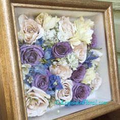 Looking for an alternative to a bridal look for your #preservedbouquet ? How about this lovely scattered bloom layout in a custom shadowbox!! #floralpreservation #keepsakefloral