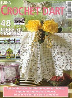 """Photo from album """"Elena Crochet D'Art Hors-serie on Yandex. Crochet Doily Patterns, Crochet Diagram, Crochet Chart, Crochet Doilies, Crochet Flowers, Crochet Lace, Knitting Magazine, Crochet Magazine, Crochet Books"""