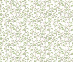 Lily of the Valley Pink fabric by spugnardidesign on Spoonflower - custom fabric