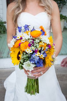 Texas Wildflower and Sunflower Bouquet in Austin, Texas