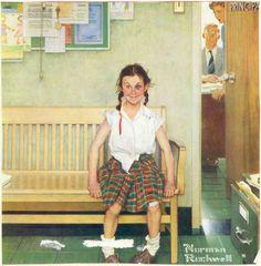 School Fight by Norman Rockwell (1894-1978)  FS