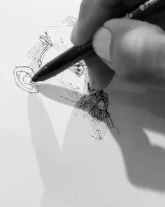 Music Drawings, Pencil Art Drawings, Art Drawings Sketches, Pencil Sketching, Vogel Illustration, Portrait Art, Portraits, Concept Art Tutorial, Sketches Tutorial