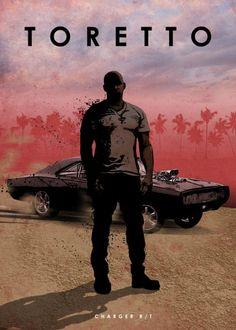 Toretto en poster métal fast and furious pour une décoration explosive ! Disponible sur Artwall and Co