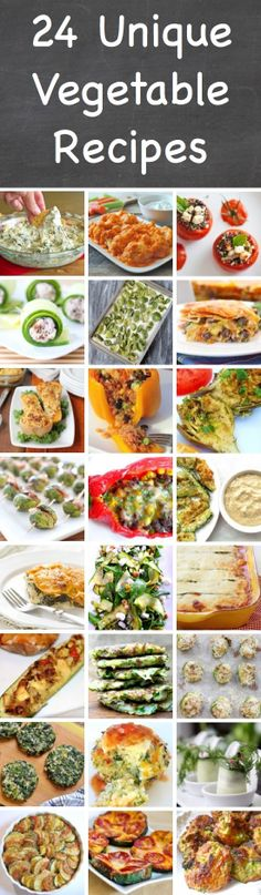 25 Unique Vegetable Recipes Just imagine: Buffalo Cauliflower, Cucumber Feta Rolls, Stuffed Artichokes and grilled Zucchini Pizza!! Not much for me but for @Mina Soares                                                *Fresh Appeal Staging*