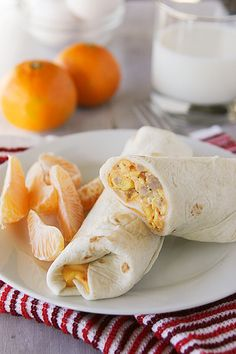 Cheesy Sausage Breakfast Burritos from Cafe Zupas