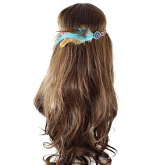 $3.02 Gorgeous Faux Feather Elastic Hair Band For Women
