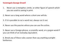 Schrijfregels Orwell