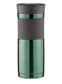 cup coffee Contigo SnapSeal Byron Vacuum Stainless Travel Mug 20oz Greyed Jade #Contigo