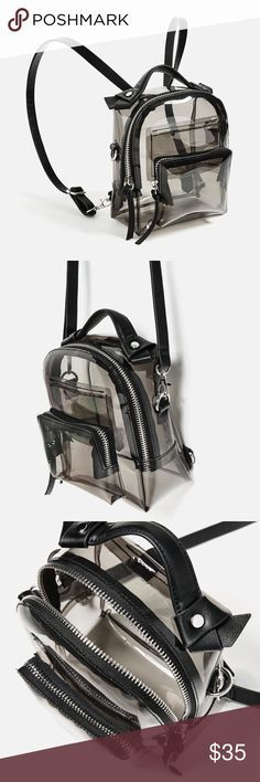 Zara backpack Transparent backpack , multiuse back pack and purse Zara Bags Backpacks