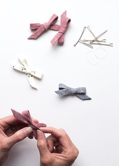 how to make baby hair bows with bias tape