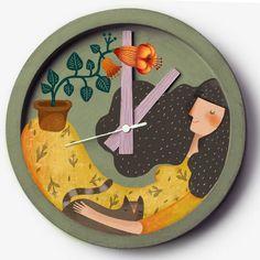 Diy Clay, Clay Crafts, Clock Art, Clocks, Cartoon House, Newspaper Art, Kids Room Design, Autumn Art, Mural Art