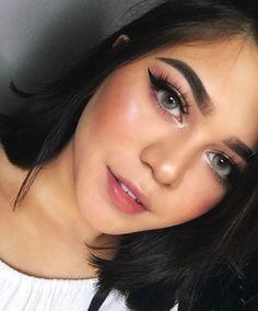 Sarahayuh_ ig Eyebrow Makeup Tips, Beauty Makeup Tips, Beauty Make Up, Makeup Inspo, Makeup Inspiration, Eye Makeup, Hair Makeup, Natural Summer Makeup, Simple Makeup