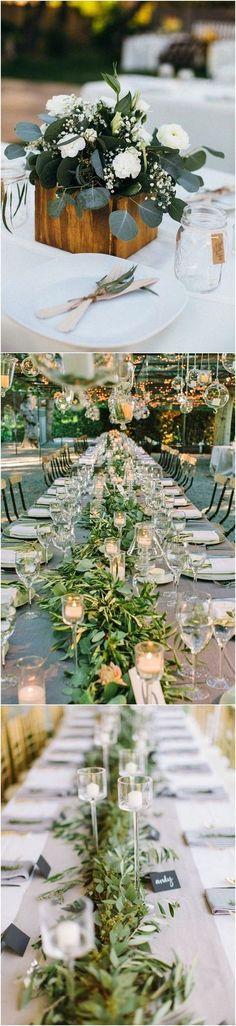simple chic greenery wedding centerpiece ideas with wooden box 2 #weddingtrends #weddingideas #weddingdecor #weddingcenterpiece #greenerywedding #weddingdecorations
