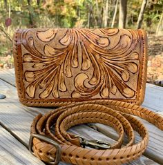 "Small Leather Crossbody & Clutch ""PETIT"" by ALLE Hand-Tooled Leather more Colors Tooled Leather Purse, Leather Clutch Bags, Leather Tooling, Leather Purses, Structured Bag, Crossbody Clutch, 3 D, View Image, Colors"