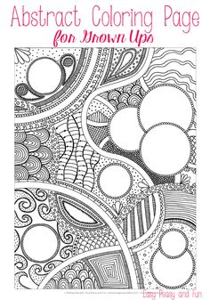 Free Abstract Coloring Page for Adults - Easy Peasy and Fun
