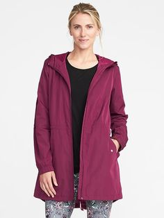 Go-H2O Water-Resistant Hooded Anorak for Women