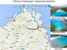 Our itinerary in sardinia : santa teresa and pink beach