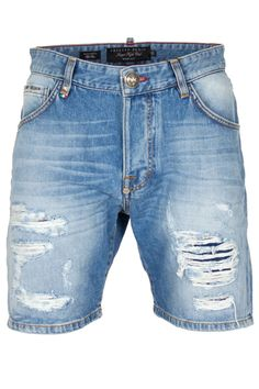 594b3be8ca These miami cut denim shorts come with embossed skulls on the back pockets  and they are comfortable and glamorous