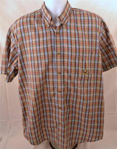Wrangler Riatta Men's Size XL Short Sleeve Casual Cotton Blend Shirt #Wrangler #ButtonFront