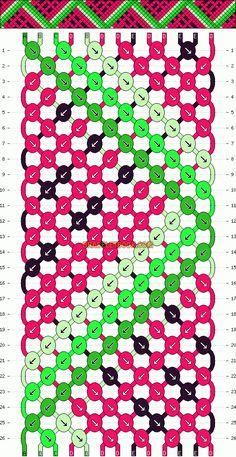Friendship Bracelet Knot Patterns | Patterns - Normal - Friendship Bracelet Pattern #6441
