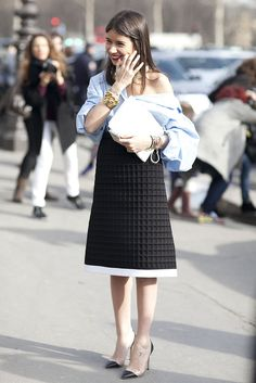 Street Style at Paris Fashion Week Fall 2013 | POPSUGAR Fashion